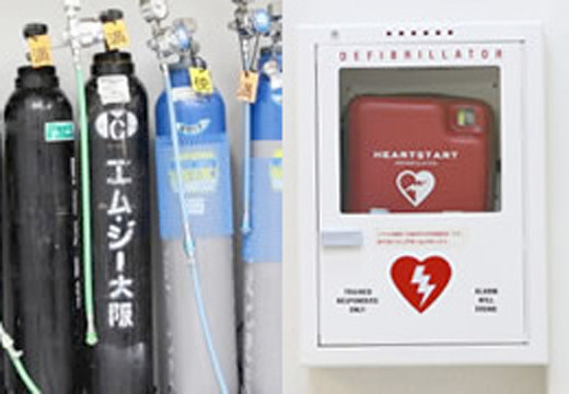 Oxygen Tanks and AED